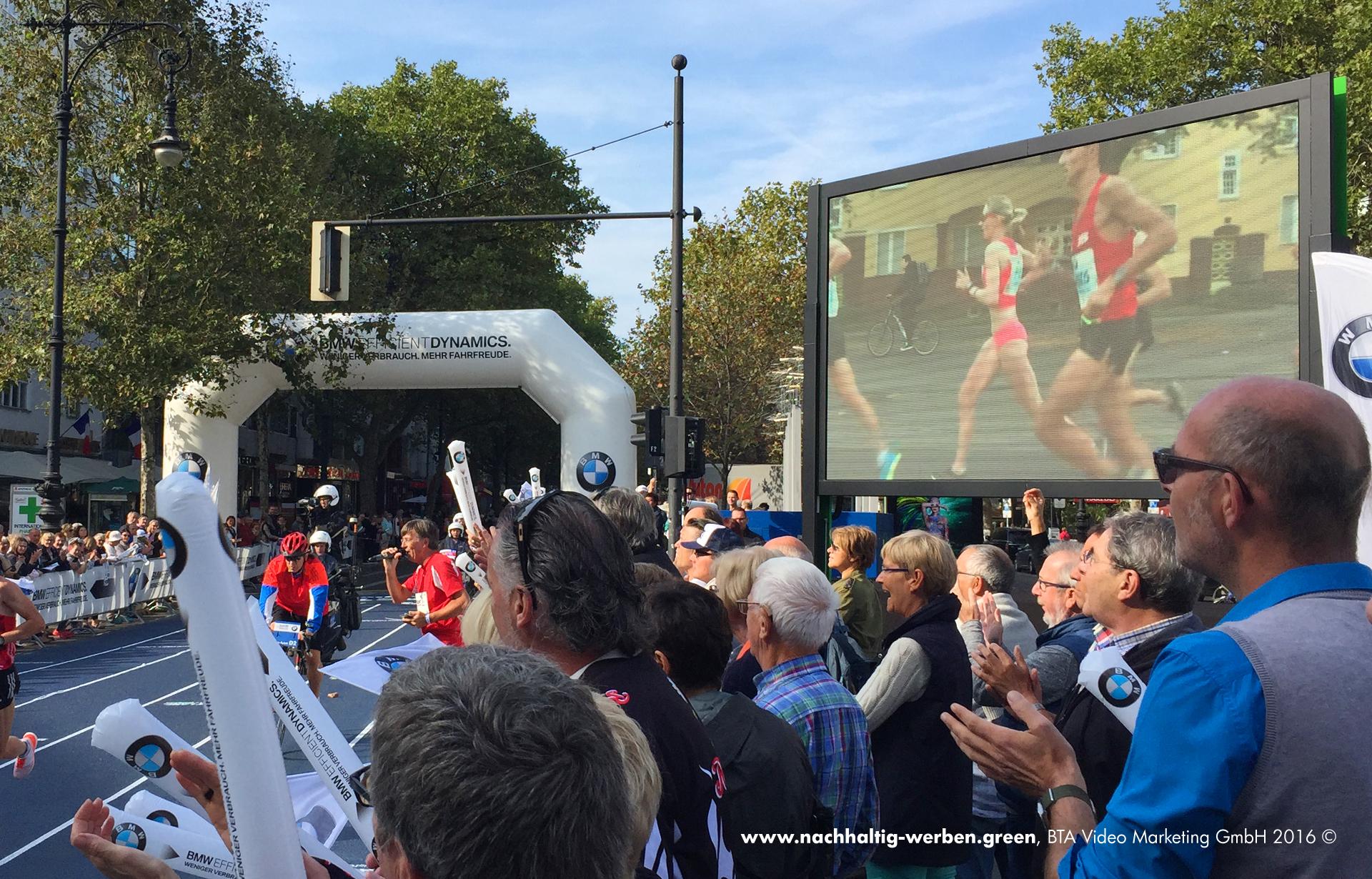 Werbeträger beim Berlin Marathon