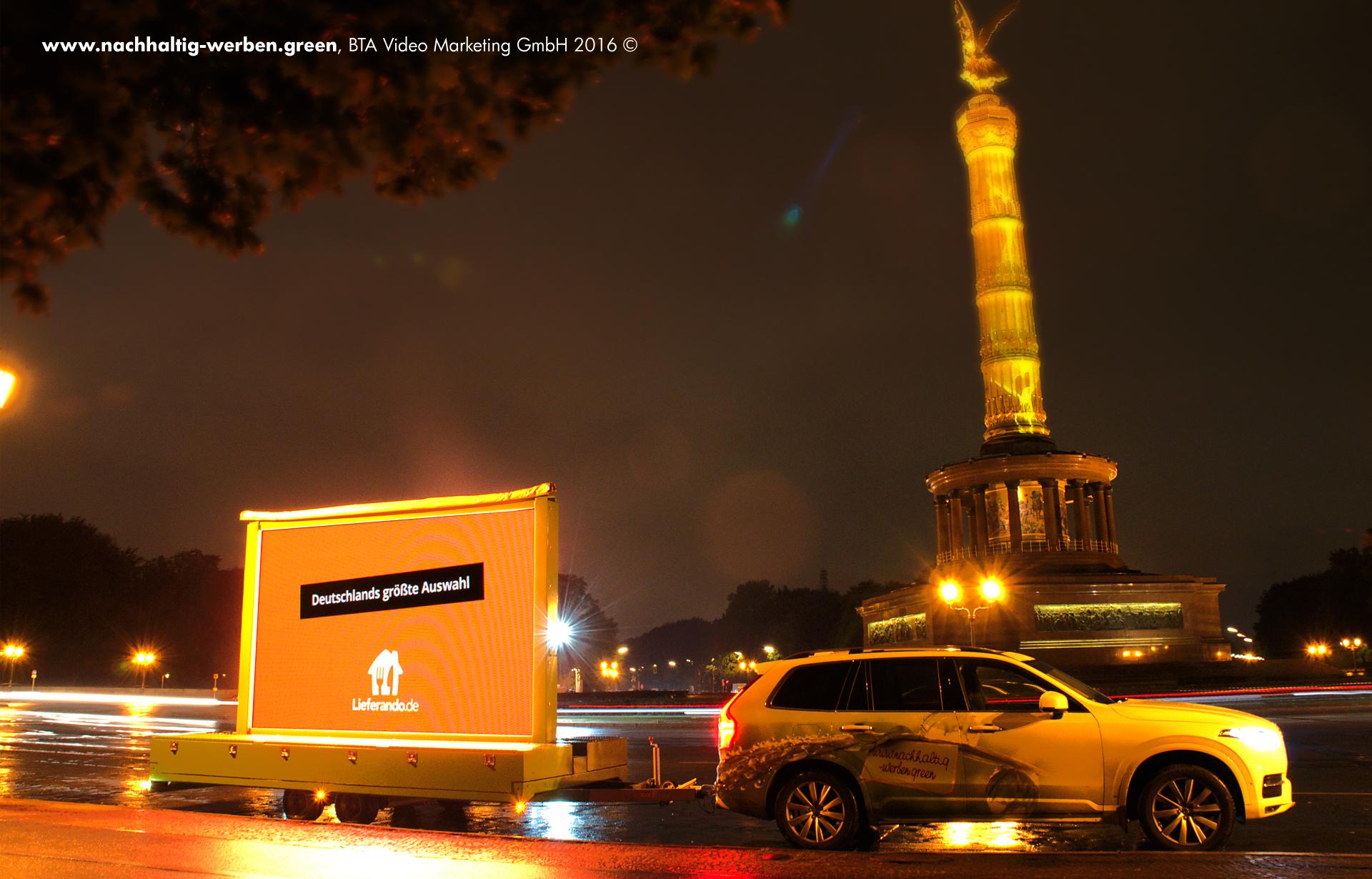 Mobile Lieferando Werbung in Berlin